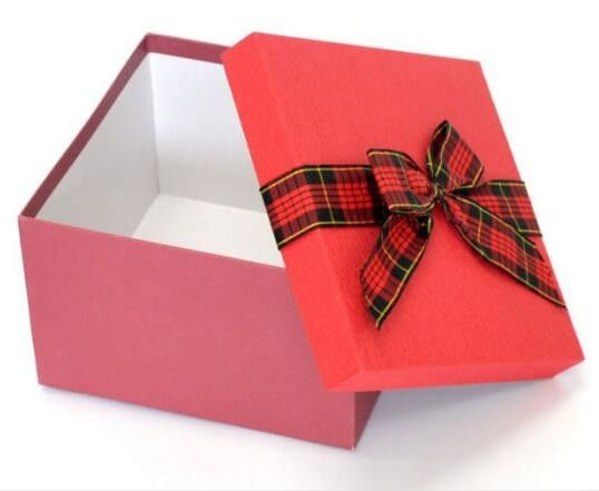 Grey Cardboard Custom Paper Gift Box With Ribbon Bow , Gift Packing Box