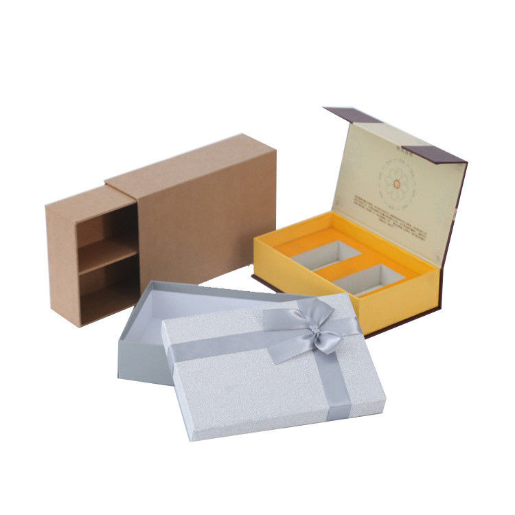 Butterfly Ribbon Clamshell Sliding Drawer Box Cardboard Gift Boxes With Lids